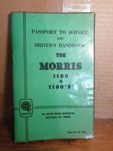Morris 1100  drivers handbook owners manual c1964