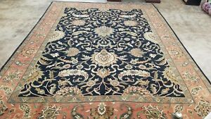 10'x14' HAND-KNOTTED OUSHAK TABRIZI JAYPUR PISHAWAR-ALLOVER VINTAGE WOOL RUG