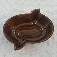 Vintage Covina Pottery #937 Planter Succulent Bowl 1950s Drip Glaze Glossy Brown