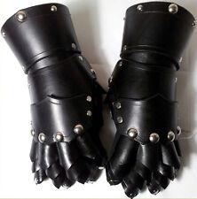 STUDDED FINGER GAUNTLETS Leather Hand Armor Sca Larp Ren Faire Gothic Glove