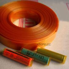 (18650 18500 Battery) 29.5mm Wide Φ18.5MM PVC Heat Shrink Tubing Tube Wrap 2M