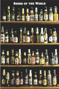 ALCOHOL Poster Beers of the World