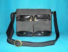 sac porte documents GIL HOLSTERS en toile et cuir porté épaule ou travers