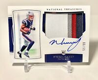 2019 NATIONAL TREASURES N'KEAL HARRY 4 CLR PATCH AUTO RPA # /99 PATS & 2 Patch