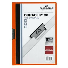 DURABLE Klemm-mappe DURACLIP DIN A4 bis 30 Blatt orange 25 St. 220009