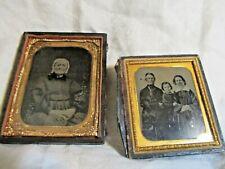 Two Vintage Antique Daguerreotype
