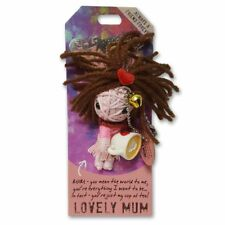 Lovely Mum Novelty Voodoo Doll Keyring/Keychain Christmas Gift Collectable New