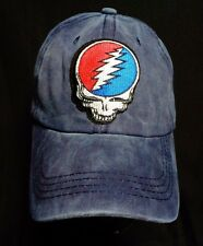 grateful dead dad hat baseball cap blue hippie psychedelic skull steal your face