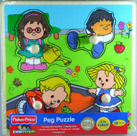 Fisher-Price Kinder Puzzle, Steckpuzzle, Holzpuzzle, 5 Teile, Holz, ab 18 Mon...