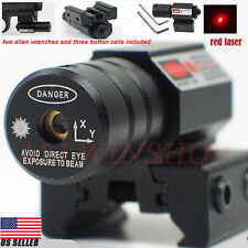 2 X Tactical Red Laser Beam Dot Sight Scope for Gun Rifle Pistol Picatinny Mount