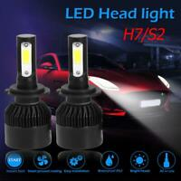 2pcs S2 Series COB LED Car Headlight Bulbs 8000lm Auto LED Bulbs Black (H7)