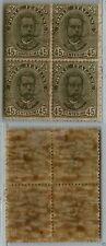REGNO - 1891/1896 - MH - Quartina 45 cent Umberto I (63)