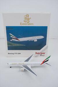 Herpa Wings Emirates Boeing 777-200 Diecast Model 1:500 scale #506335 Airplane