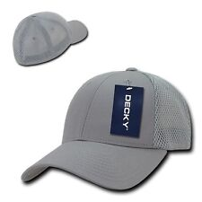 Light Gray Flex Low Crown Cotton Mesh Grey Baseball Ball Golf Fit Fitted Hat Cap