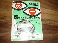 Augen auf im Strassenverkehr Fahrschule Frage- und Antwortheft DDR 1967 April