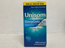 Unisom SleepGels Nighttime Sleep Aid With Diphenhydramine, 100 SoftGels