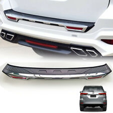 REAR BUMPER GUARD TAILGATE COVER CHROME FIT FOR TOYOTA FORTUNER SW4 2015 16 17