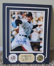 RARE HIGHLAND MINT SPARKY LYLE AUTO 8 x 10 2/50 + COIN UNFRAMED NEW YORK YANKEES