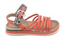 Mjus M46006 sandalo cinturini pelle aragosta fibbia camoscio maculato W