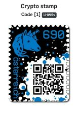 Crypto Stamp BLUE ***FIVE DIGITS*** ! CODE 5 STELLIG ETHEREUM ONLY 2% OF ISSUE!