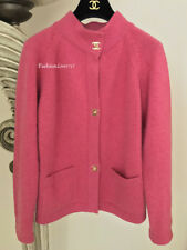 $2.8K GORGEOUS 09A CHANEL PINK CASHMERE CC TURNLOCK CARDIGAN SWEATER JACKET 42