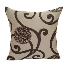 """Round Floral/Leaves 20""""x20"""" Brown Decorative/Throw Pillow Case/Cushion Cover"""