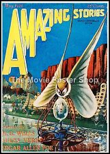 Amazing Stories 1  American Science Fiction Pulp Magazines Vintage Posters