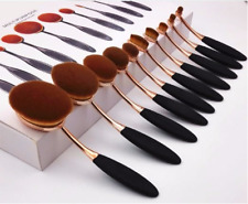 10PCS Vander  MakeUp Brushes Set Oval Toothbrush Foundation Contour Face Ma