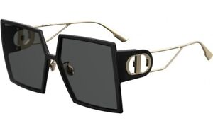 Christian Dior 30Montaigne 807/2K Black Gold Grey Lens Women Sunglasses Oversize