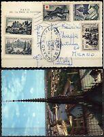 926 - Francia - Croce Rossa su cartolina da Parigi a Milano