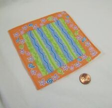 BARBIE DOLL ACCESSORIES GINGHAM CHECK PATCHWORK PICNIC BLANKET /& NAPKINS