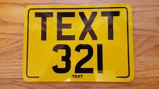 8x6 text motorcycle kids plate novelty bike car plate not number plate