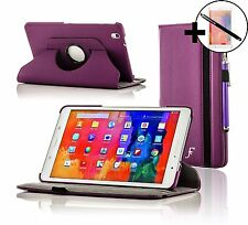 Leather Purple Rotating Case Samsung Galaxy Tab PRO 8.4 + Screen Pro & Stylus
