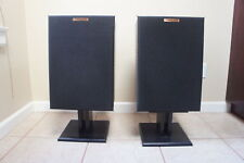 ‡ RARE NICE! ‡ Klipsch KG2 2-Way Stereo Bookshelf Speakers Matched Pair w Stands