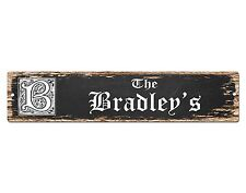 SP0801 The BRADLEY'S Family name Sign Bar Store Shop Cafe Home Chic Decor