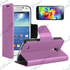 Coque Housse Portefeuille Video VIOLET Samsung Galaxy S5 Mini G800F G800H / Duos