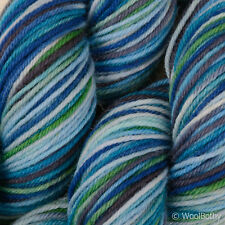 *100g *Hand-Dyed BRITISH SOCK WOOL* 4 Ply Blue Multi-Colour knitting yarn.lace