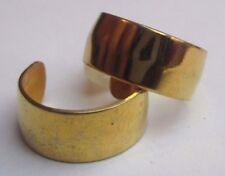 boucles d'oreilles percées bijou chic plaqué or anneau large petite taille 2298