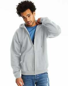 Men�s Full Zip Hoodie Hanes Ultimate Sweatshirt Cotton Heavyweight Fleece Warm