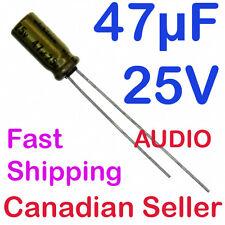 2pcs 47uF 25V 5x11.5mm Nichicon FW For Audio Equipment RADIO VIDEO STEREO HiFi