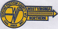 Patch- West Virginia Northern Railroad (Preston County)  NEW-  RARE
