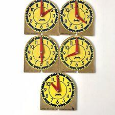 "Lot of 5 Vintage Judy Instructo 4"" Mini-Clocks #209041"
