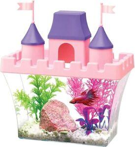 Aqueon Princess Castle Betta Aquarium Kit .5 Gal 8x4x7-Inches Pink/Purple