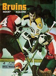 1974 Bobby Orr, Boston Bruins Home Unscored Program vs. Detroit Red Wings EX