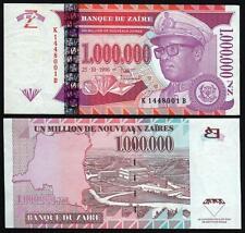 ZAIRE  1.000.000 Nouveaux Zaires 1996 UNC P 79