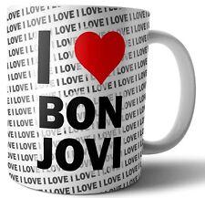 I LOVE BON JOVI Thé-Café-Tasse-Tasse Anniversaire-Noël-Cadeau