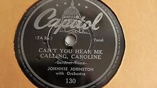 Johnnie Johnson – 78rpm single 10-inch – Capitol #130