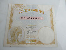 vp1 billet de loterie nationale 100 francs 7 e tranche 1934