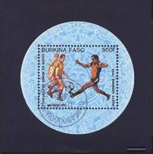 Burkina Faso Bloque 94 (edición completa) usado 1985 copa del mundo 1986