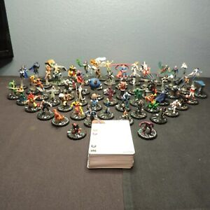Heroclix Justice League Complete Set 1-60 with Cards & Tokens + Bonus in N.M.